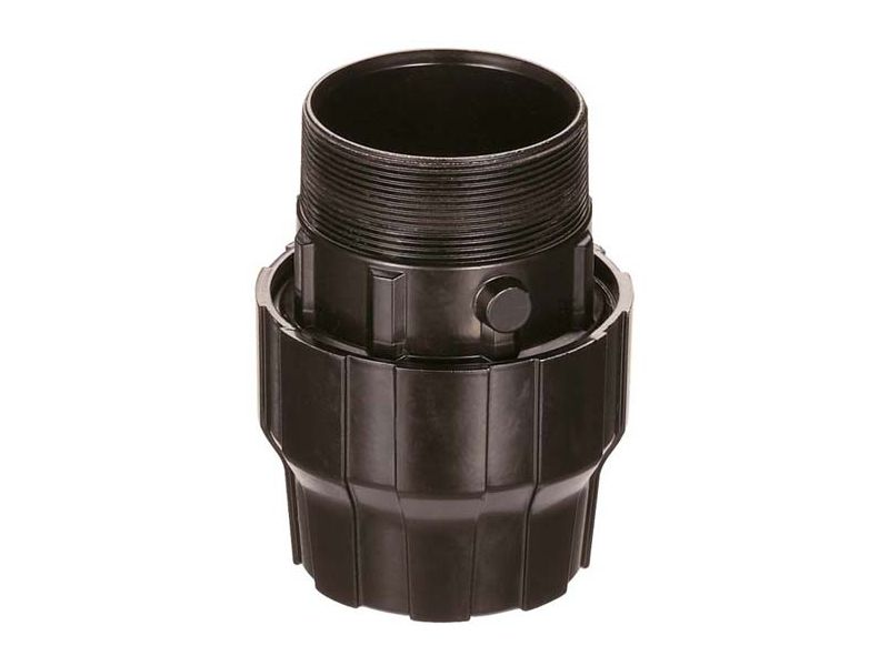 Aluminium sleeve coupling/nipple 40 mm 1 1/2