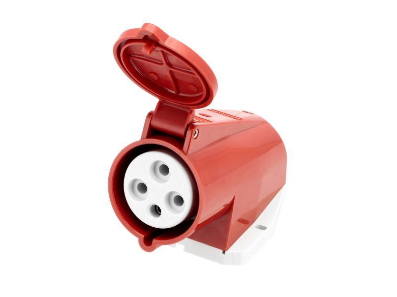 Power socket 400 V 4 pole 32 A