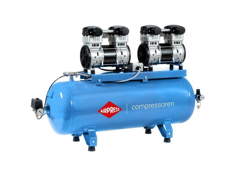 Silent oil free Compressor LMO 196X2-100 8 bar 3.2 hp/1.5 kW 240 l/min 100 l