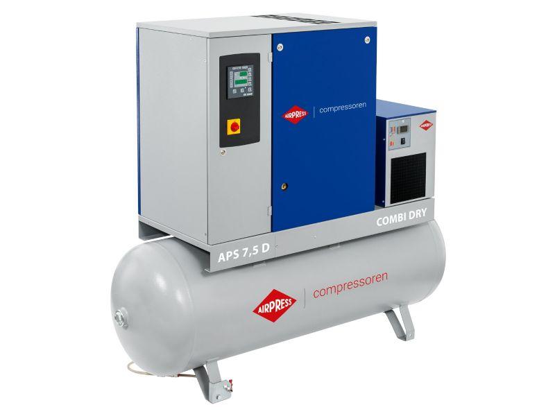 Screw Compressor APS 7.5D Combi Dry 10 bar 7.5 hp/5.5 kW 670 l/min 500 l