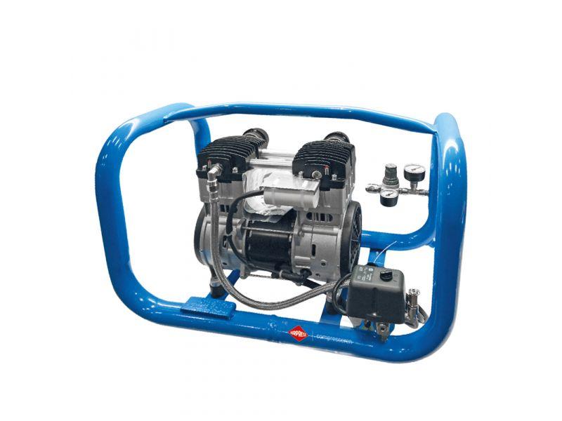 Silent oil free compressor LMO 3-250 8 bar 1.8 hp/1.5 kW 90 l/min 5 l