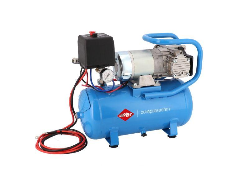 12V Silent Oil free Compressor DC 12-180/15 10 bar 0.75 hp/0.55 kW 144 l/min 15 l