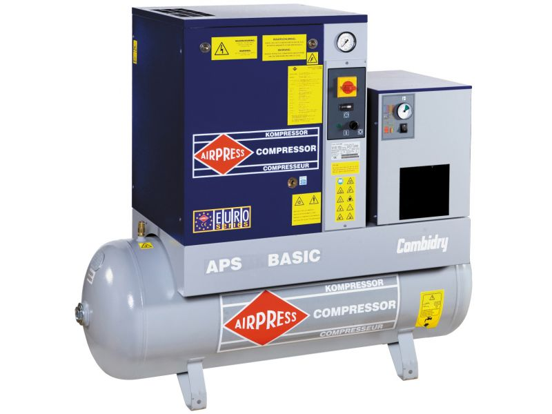 Screw Compressor APS 7.5 Basic Combi Dry 10 bar 7.5 hp/5.5 kW 600 l/min 500 l