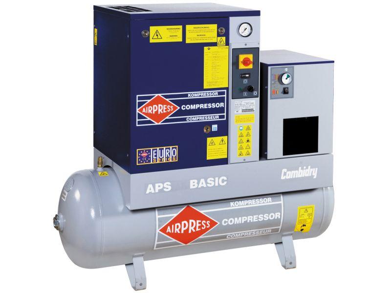 Screw Compressor APS 7.5 Basic Combi Dry 10 bar 7.5 hp 600 l/min 500 l