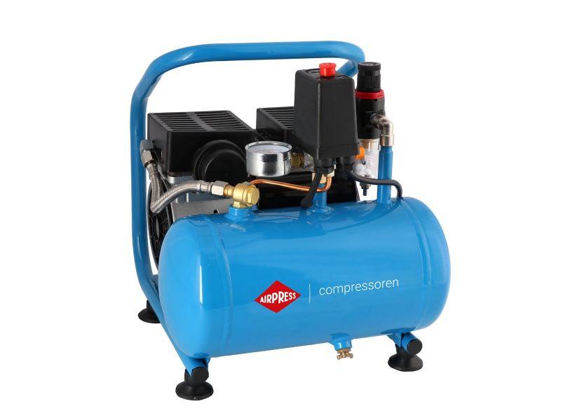 Silent oil free air compressor L 6-95 8 bar 0.6 hp/0.45 kW 25 l/min 6 l