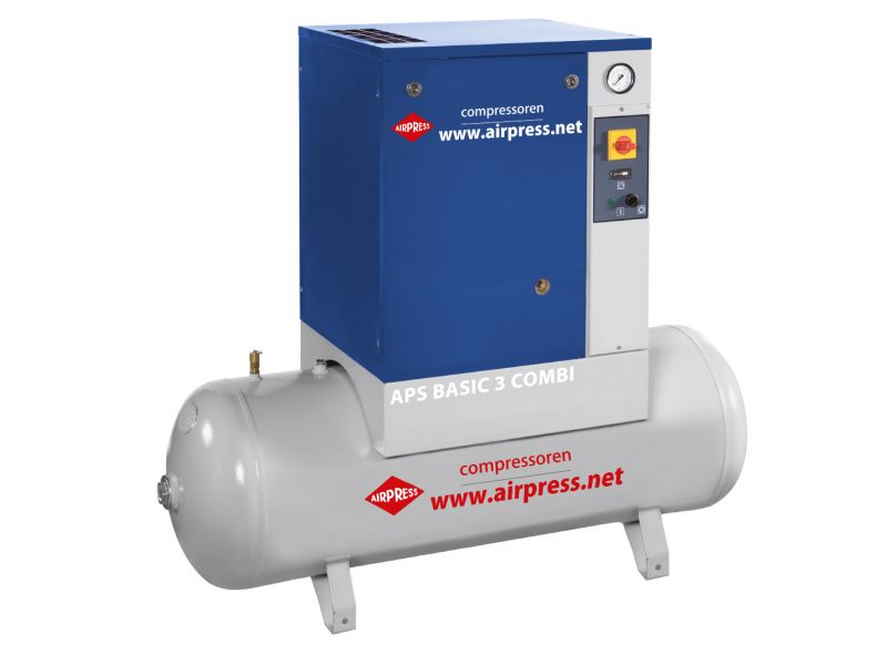 Screw Compressor APS 3 Basic Combi 10 bar 3 hp 240 l/min 200 l