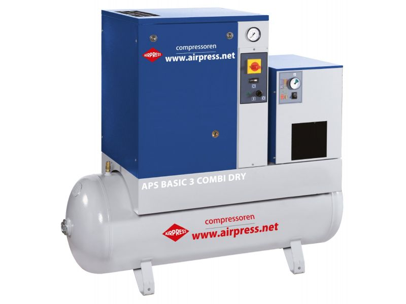 Screw Compressor APS 3 Basic Combi Dry 10 bar 3 hp 240 l/min 200 l
