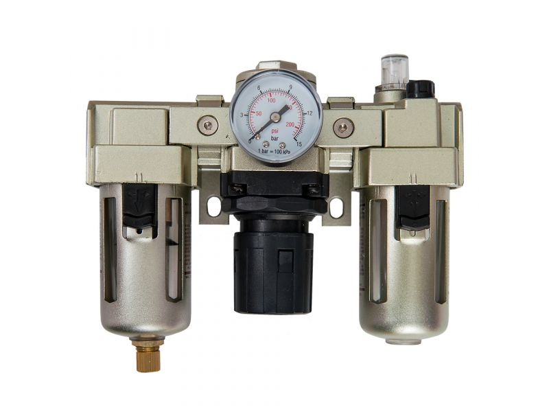 Oil-/Water seperator Pressure reducing valve and Oil Lubricator 3/8