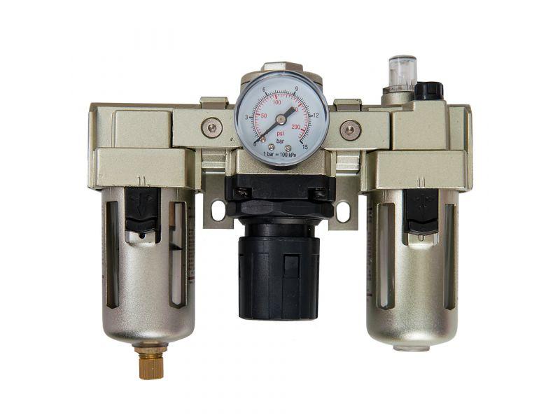 Oil-/Water seperator Pressure reducing valve and Oil Lubricator 1/2