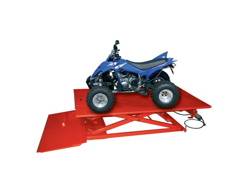 Motorcycle lift 685 kg with foot pedal