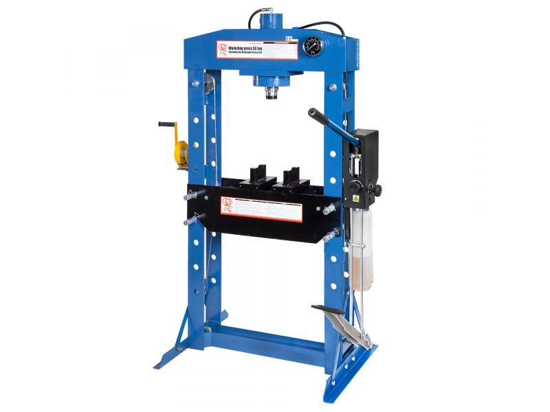 Hydraulic press 50 ton 9 heights 190 mm stroke length