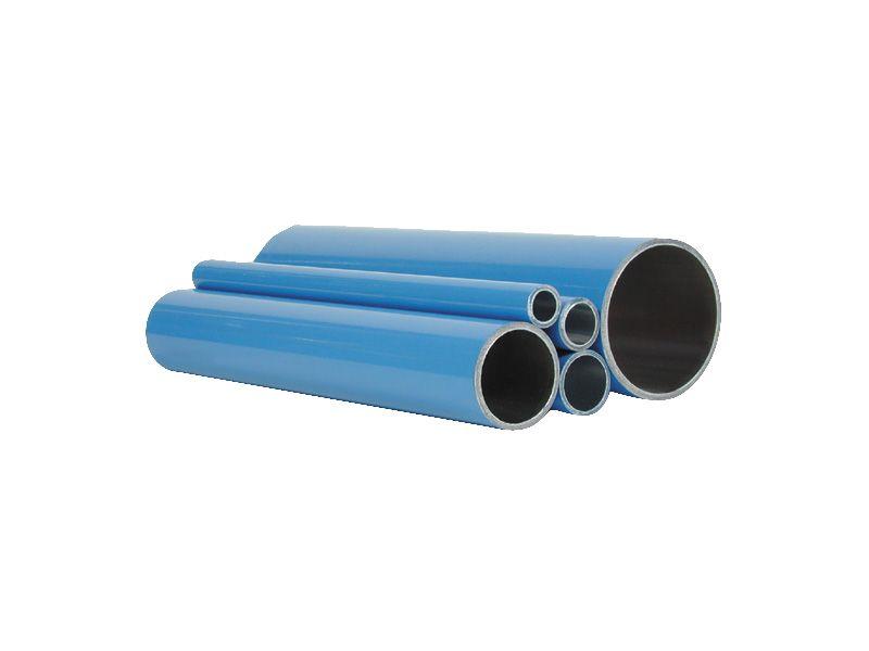 Aluminium compressed air pipe 50 x 2 mm 6 m