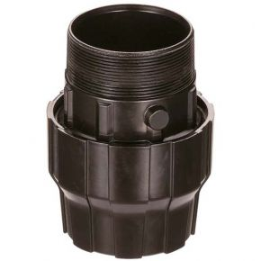 "Aluminium sleeve coupling/nipple 63 mm 1/2"" male"