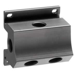 """Wall mount manifold 4 outlets 1/2"""" with drain 1/4"""""""