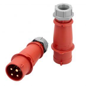 Electrical plug 400 V 4 pole 32 A