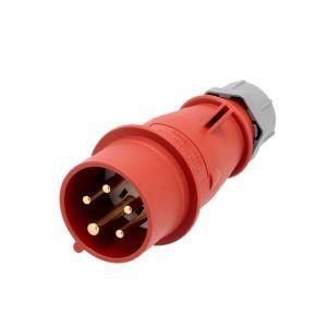 Electrical plug 400 V 5 pole 16 A