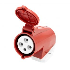 Power socket 400 V 4 pole 16 A