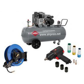 Compressor HL 425-200 Pro 10 bar 3 hp/2.2 kW 280 l/min 200 l Plug and Play