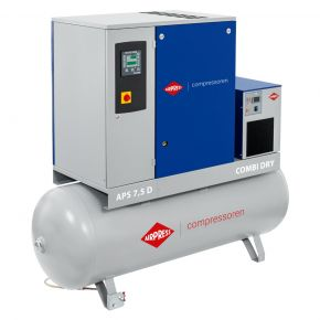 Screw Compressor APS 7.5D Combi Dry 10 bar 7.5 hp/5.5 kW 670 l/min 500 l
