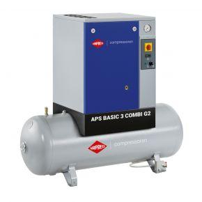 Screw Compressor APS 3 Basic G2 Combi 10 bar 3 hp/2.2 kW 294 l/min 200 l
