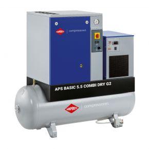 Screw Compressor APS 5.5 Basic G2 Combi Dry 10 bar 5.5 hp/4 kW 516 l/min 200 l