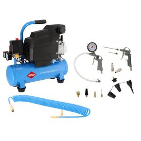 Compressor H 185-6 8 bar 1.5 hp/1.1 kW 75 l/min 6 l Plug & Play