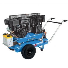 Mobile Benzine Compressor BM 17+17 10 bar 5.5 hp/4 kW 450 l/min 2 x 17 l
