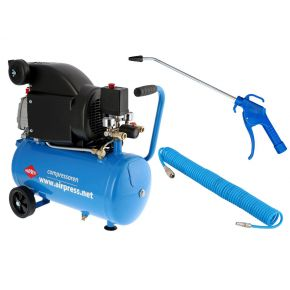Compressor HL 310-25 8 bar 2 hp 130 l/min 24 l Plug & Play combideal