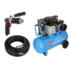 Compressor HL 340-90 10 bar 3 hp 272 l/min 90 l Plug & Play combideal