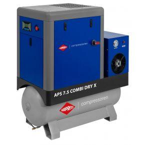 Screw Compressor APS 7.5 Combi Dry X 10 bar 7.5 hp/5.5 kW 690 l/min 200 l