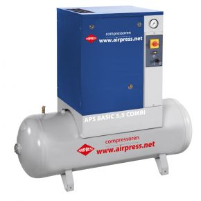 Screw Compressor APS 5.5 Basic Combi 10 bar 5.5 hp/4 kW 470 l /min 200 l