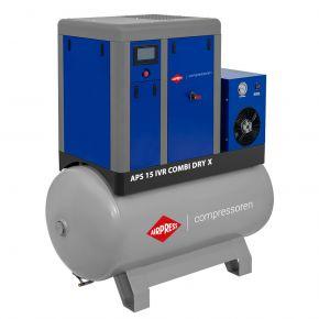 Screw Compressor APS 15 IVR Combi Dry X 10 bar 15 hp/11 kW 380-1410 l/min 500 l