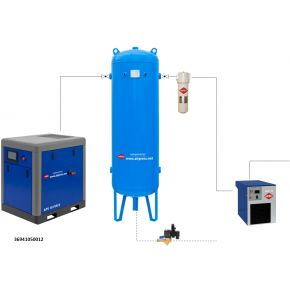 Compressed air treatment set APS 10 X IVR / 300 / 9
