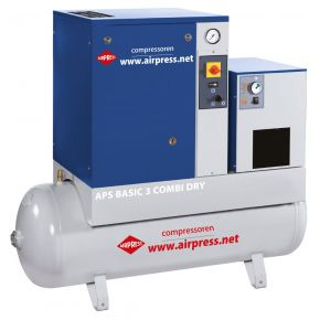 Screw Compressor APS 3 Basic Combi Dry 10 bar 3 hp/2.2 kW 240 l/min 200 l