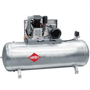 Compressor G 1000-500 Pro 11 bar 7.5 hp/5.5 kW 698 l/min 500 l galvanized