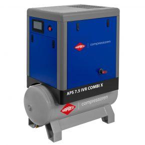 Screw Compressor APS 7.5 IVR Combi X 10 bar 7.5 hp/5.5 kW 170-690 l/min 200 l