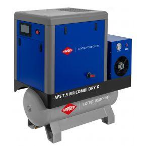 Screw Compressor APS 7.5 IVR Combi Dry X 10 bar 7.5 hp/5.5 kW 170-690 l/min 200 l