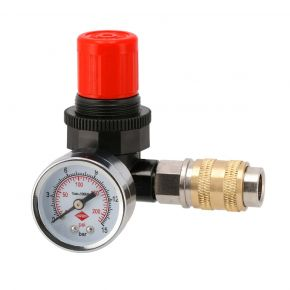 "Pressure reducing valve 1/4"" 12bar with universal 1/4"""