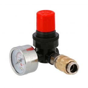 "Pressure reducing valve 1/4"" 12bar with universal 1/4"""