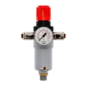 "Pressure reducing valve 1/2"" 12 bar with 2 quick couplings"