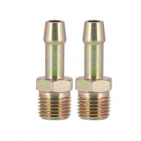 "2 Plugin nipple for hose 8mm 1/4"" blister"