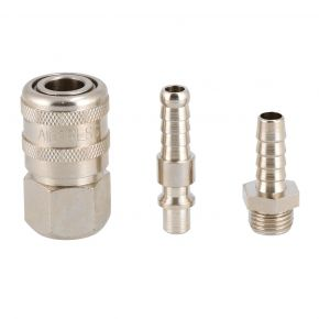 "Air hose tail 8 mm 1/4"" Quick coupling 1/4"" type Orion and Plugin nipple 8 mm type Orion"