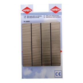 Staples type 80 25 mm 1000 pieces stainless steel