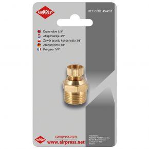 """Condensate drain valve 3/8 """" for 24 l compressors"""