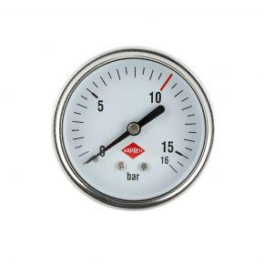 """Pressure gauge 1/4"""" 16 bar rear connection 63 mm"""