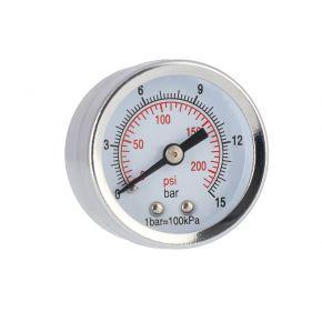 "Pressure gauge 1/8"" 15 bar rear connection"