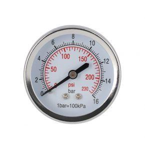 """Pressure gauge 1/4"""" 16 bar rear connection 40 mm"""