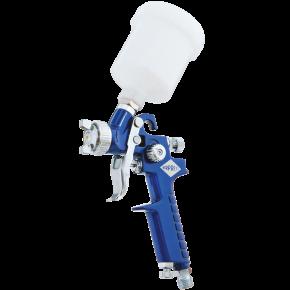 Mini Paint spray pistol HVLP 2 bar 1.8 mm nozzle 125 ml cup