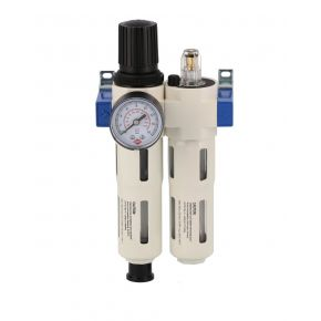 "Oil-/Waterseperator Pressure reducing valve and Oil Lubricator 1/4"" 15 bar"