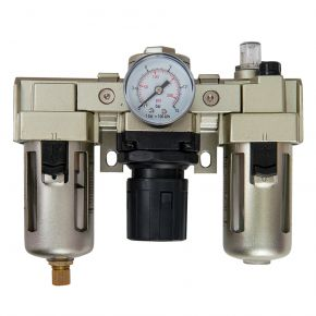 "Oil-/Water seperator Pressure reducing valve and Oil Lubricator 1/4"" 10 bar 25 micron"